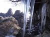 阿蘇根子岳西峰の氷柱